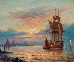 Moored Sailing Ship