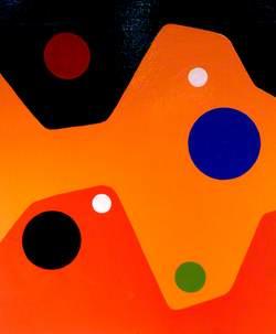 Circles on Orange*