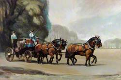 Cleveland Dray Horses Drawing the Lord Mayor's Coach