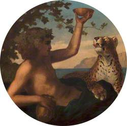 Young Bacchus with a Panther or a Leopard