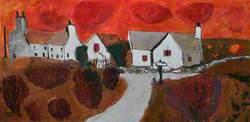 Red Sky and Farmhouse (Awyr Goch a Ffermdy)