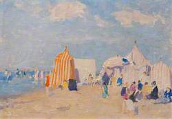 Normandy Beach Scene