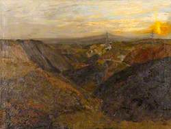 Coal Tips, Llanelly Hill, Sunrise
