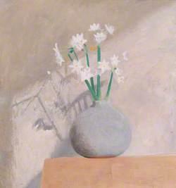 Narcissi in Grey Pot