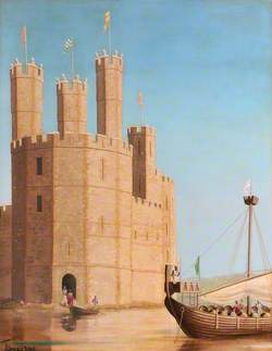 Section of Caernarfon Castle, Medieval