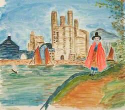 Caernarfon Castle, Harbour and Welsh Girl