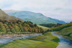 A Scene of the Upper Towy Valley, near Rhandirmwyn