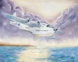 Sea Plane with Purple Sky
