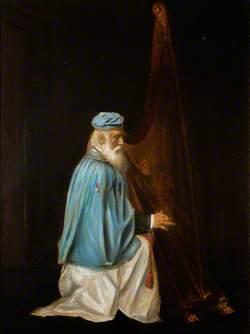John Roberts (1816–1894), Playing Triple Harp
