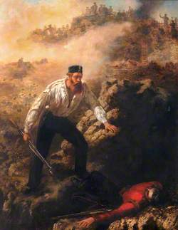 Corporal Robert Shields Winning His VC at Sebastopol, 1855