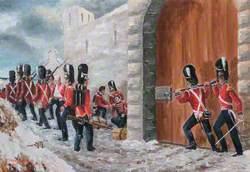 Closing the Gate at Corunna, 1809