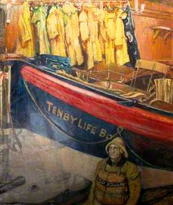 Tenby Lifeboat 'J. R. Webb II' and Coxswain Benjamin Richards