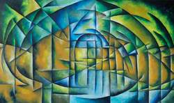 Analytical Cubist Style Abstract Landscape*