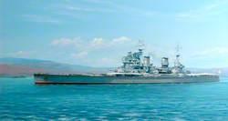 Warship HMS 'Anson'