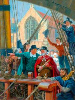 Boston: Pilgrim Fathers aboard the Mayflower
