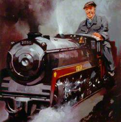Man Driving Miniature Train