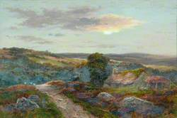 Moor Scene with a Cottage