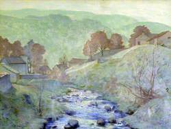 Yorkshire Landscape with a Stream