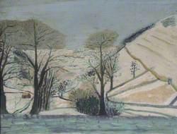 Snow scene in the Dales