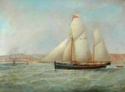 The Brig 'Hilda' WY64 off Whitby