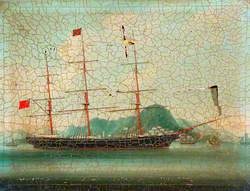 A British Tea Clipper in a Chinese Anchorage