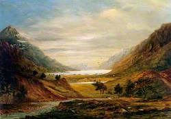 Landscape with Mountains and Sheep