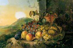 Still Life with Fruit by a Window
