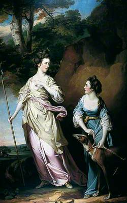 The Honourable Lady Stanhope and the Countess of Effingham as Diana, and Her Companion
