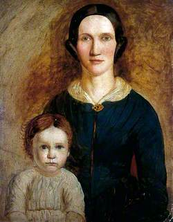Mrs William Taylor Patterson with Her Youngest Daughter