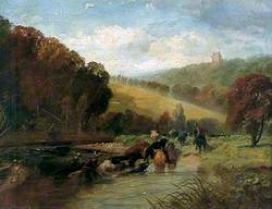 Marauders Swimming the Tweed with Stolen Cattle