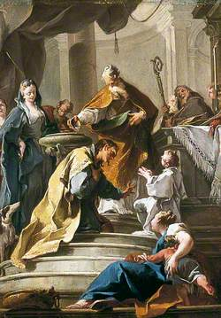St Prosdocimus Baptising St Daniel