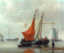 Dutch Inshore Boats Moored to a Jetty