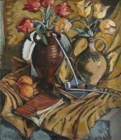 Still Life with Flowers and Pipes