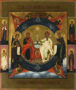 Deisis with New Testament Trinity