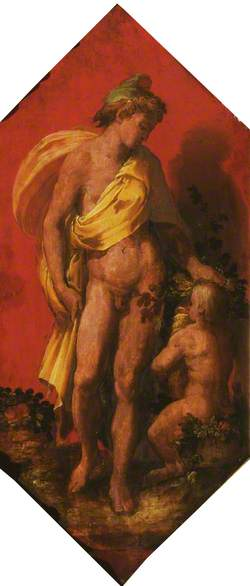 Bacchus, with a Baby Satyr
