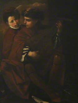 A Young Man Playing the Lute