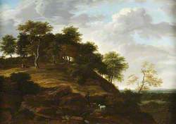 Landscape with a Herdsman on a Wooded Hill