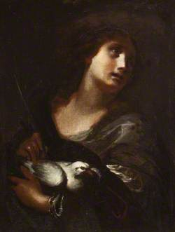 A Female Martyr, with a Dove