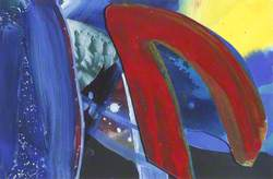 Blue, Red and Yellow Abstract