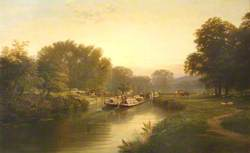 Barges on Canal near Abingdon