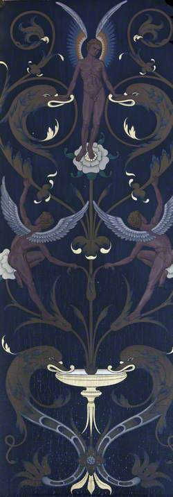 Decorative Altar Surround with Angels, Dolphins and Foliage