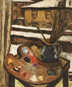 Still Life with Brushes and Palette