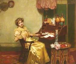 Girl at a Bureau