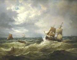 Shipping off Felixstowe