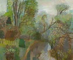 Woodland Scene with Cottage