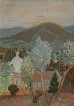 Landscape Scene with Church Dome