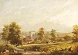 Village Scene with Church