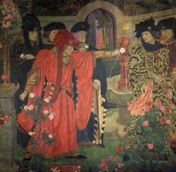 Plucking the Red and White Roses in the Old Temple Gardens
