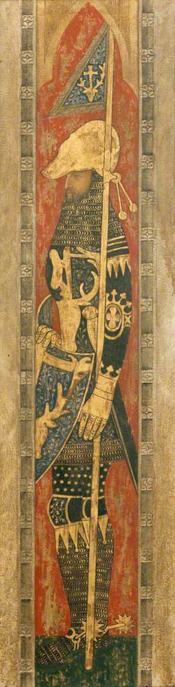 Reconstruction of Medieval Mural Painting, Saint Eustace