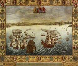 The English Fleet Pursuing the Spanish Fleet Against Fowey